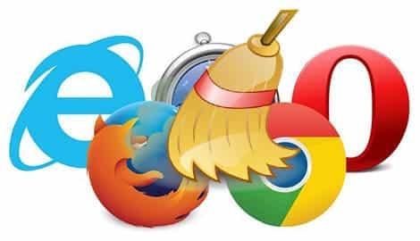 очистить кэш и удалить куки в браузере